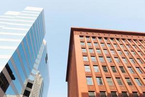 St Louis, arkitektur, kontrasterande arkitektoniska stilar foto