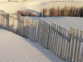 skuren sand. foto