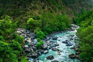 floden från Everest Trek foto