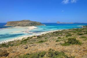 panorama av balos lagoonon Kreta, Grekland