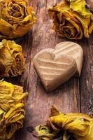 symboliskt hjärta för alla hjärtans dag foto