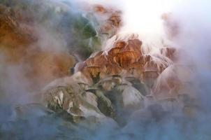 geyser på vintern foto