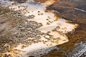 övre geyserbassäng, Yellowstone nationalpark, USA foto
