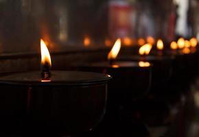 brinnande ljus foto