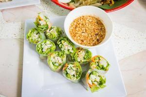 thai färsk vårrulle