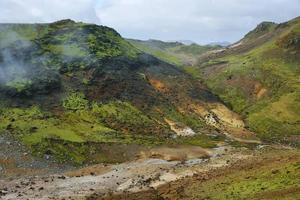 Seltun geotermiska område foto