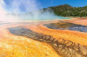storslagna prismatiska våren, Yellowstone nationalpark foto
