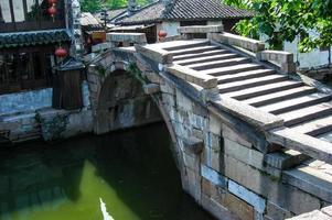 scener från suzhou, alias kinesiska venedig foto
