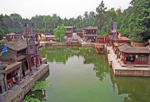 fragment av sommarpalatskomplexet, Peking, Kina foto