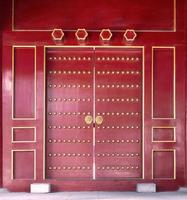 forntida kinesisk dörr foto