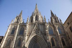 barcelona gotiska domkyrka foto