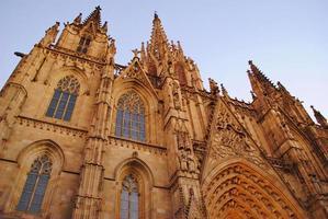 gotisk arkitektur, barcelona domkyrka foto