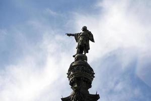 christopher columbus monument i barcelona foto