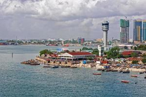 panorama över dar es salaam foto