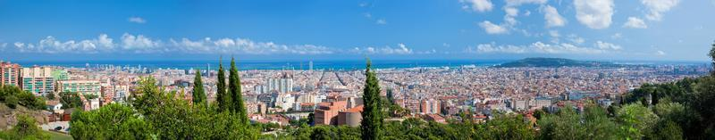 barcelona, spanien skyline panorama