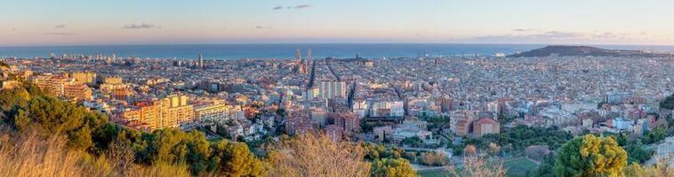 panorama över barcelona foto