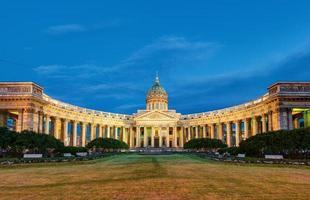 kazan domkyrka i heliga petersburg, Ryssland foto