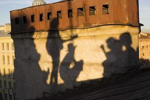 skuggorna av saint-petersburg foto