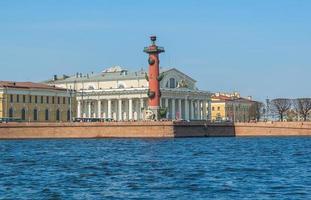 Sankt Petersburg. ön vasilyevsky. ryssland foto