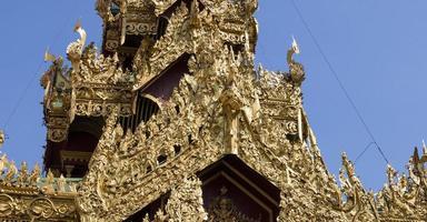 sule pagoda, yangon, myanmar foto