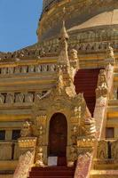 tempel utsidan i yangong myanmar foto