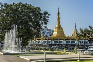 sule pagoda i yangon foto