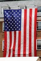 amerikanska största flaggan foto
