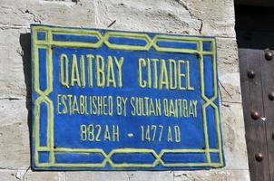 qaitbay citadellskylt foto