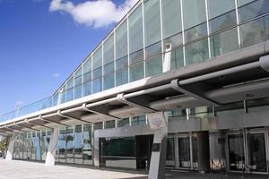 bibliotek av alexandria-huvudingången. foto
