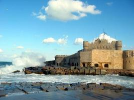 slott och vågor foto