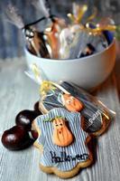 halloween handgjord cookie foto