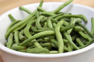 färska gröna bönor foto