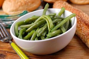 kokta gröna bönor foto