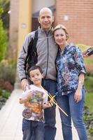lycklig familj och hobby foto