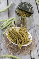konserverade gröna bönor foto