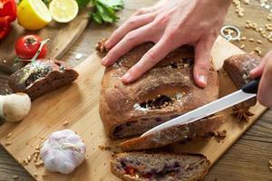 man skivad rågbröd
