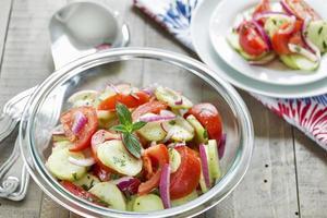 tomat- och gurksallad foto