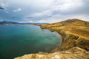 havslandskap foto