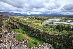 isländskt landskap foto