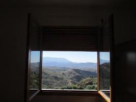 landskap fönster foto