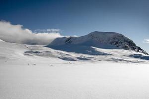 snöig vinterlandskap foto