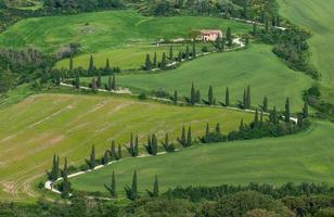 typiska toskanska landskap
