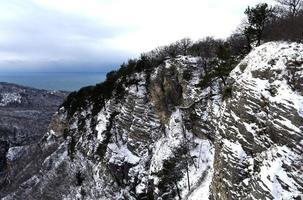 berg vinterlandskap foto