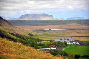 fantastiskt isländskt landskap