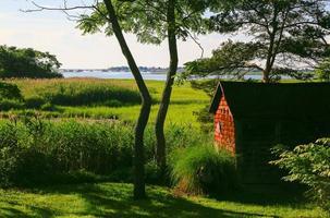 natursköna kustlandskap foto