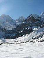 snö bergslandskap foto
