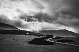 landskap på walisiska gränsen foto