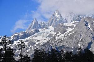 snö alpint bergslandskap foto