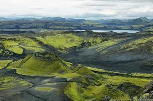 vulkaniskt landskap i lakagigar