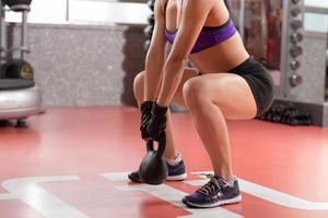 kettlebell vikt träning foto